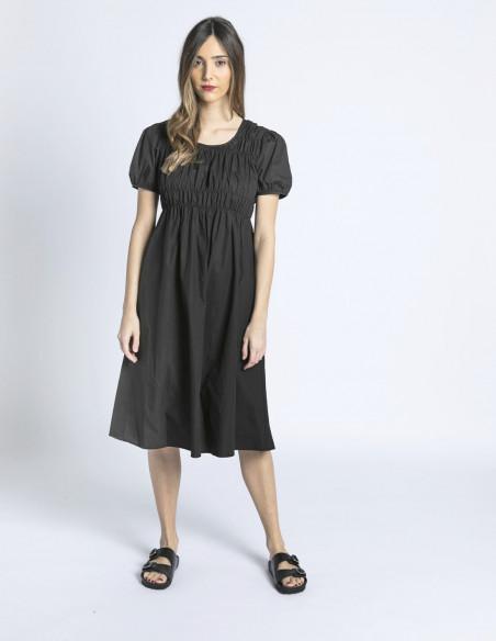 vestido midi negro compañia fantastica sommes demode zaragoza