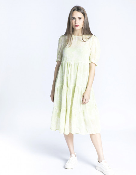 vestido midi verde samsa ichi sommes demode zaragoza