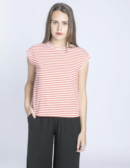 camiseta rayas rojas y blancas compañia fantastica sommes demode zaragoza