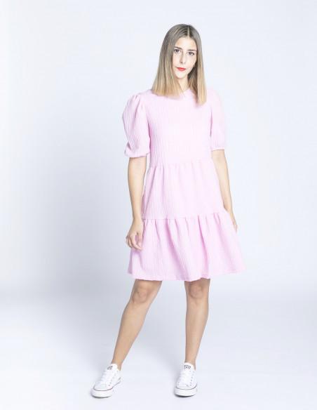 vestido rosa selmi byoung sommes demode zaragoza