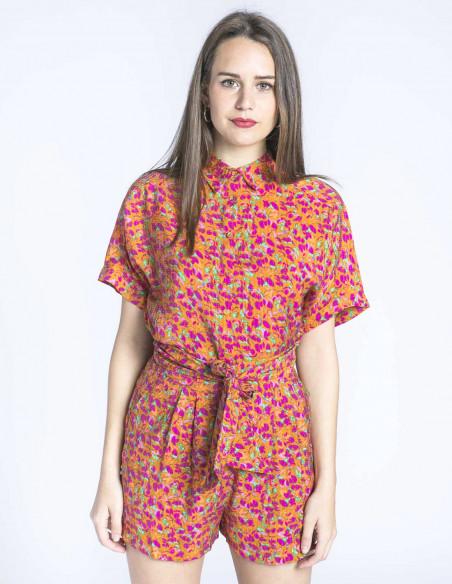 camisa flores multicolor cheryne frnch sommes demode zaragoza