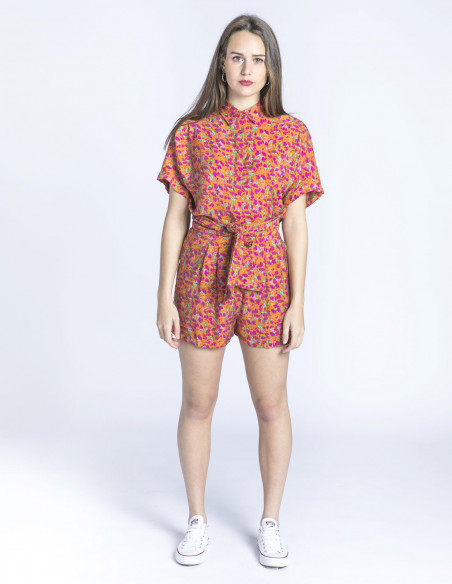 shorts flores multicolor davina frnch sommes demode zaragoza
