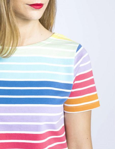 camiseta cara rayas de colores sugarhill brighton sommes demode zaragoza