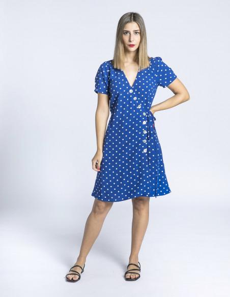 vestido azul lunares zuma king louie sommes demode zaragoza