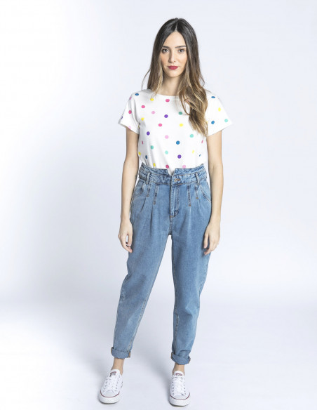 camiseta lila lunares sugarhill brighton sommes demode zaragoza