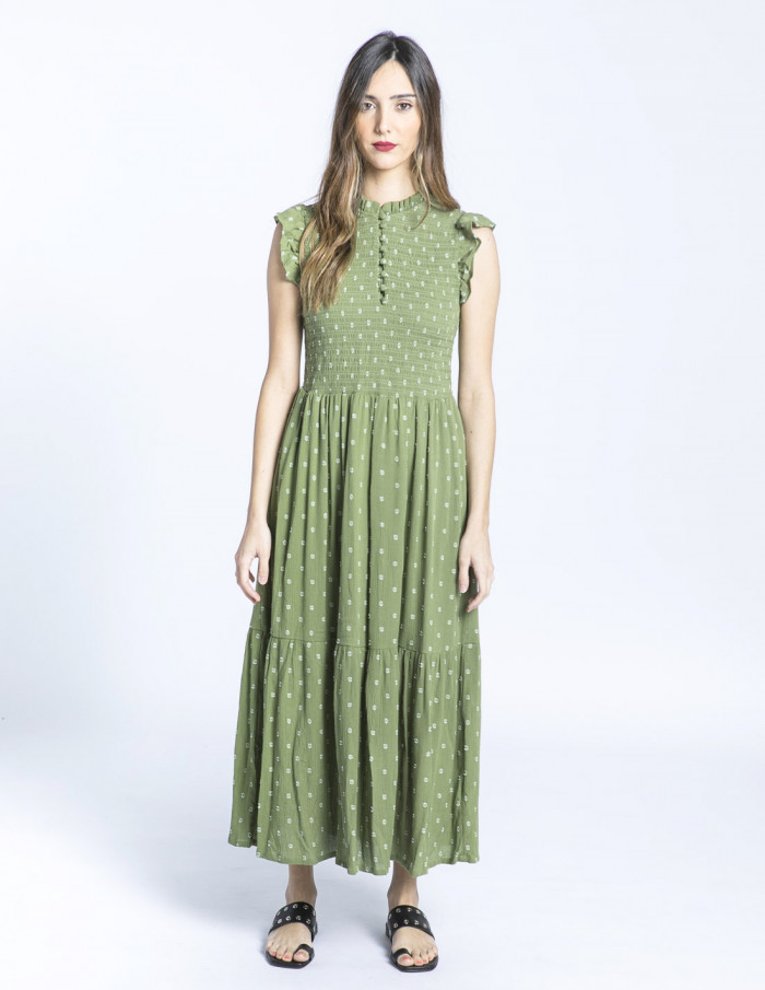 vestido largo verde felice byoung sommes demode zaragoza
