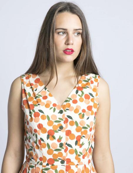 vestido naranjas scarlett emily and fin sommes demode zaragoza