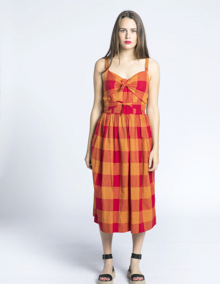 vestido cuadros salma emily and fin sommes demode zaragoza
