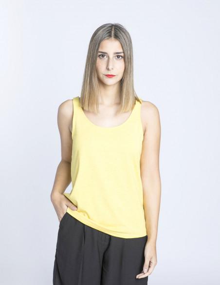 camiseta rebel amarilla tirantes ichi sommes demode zaragoza