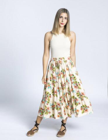 falda flores lisa maggie sweet sommes demode zaragoza