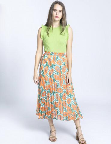 falda plisada papayas kling sommes demode zaragoza
