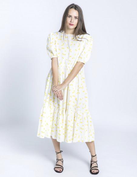 vestido oversize flores amarillas glamorous sommes demode zaragoza