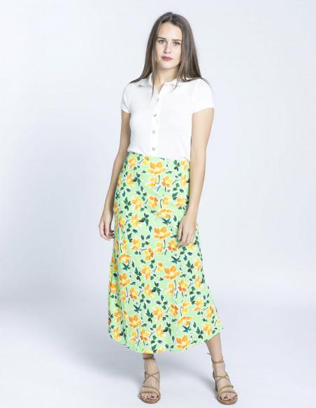 falda midi verde flores glamorous sommes demode zaragoza