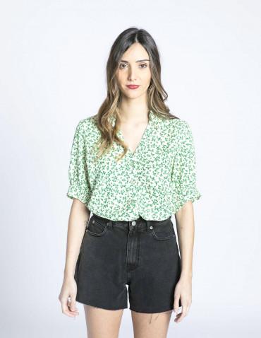 camisa flores verdes darlee desires sommes demode zaragoza