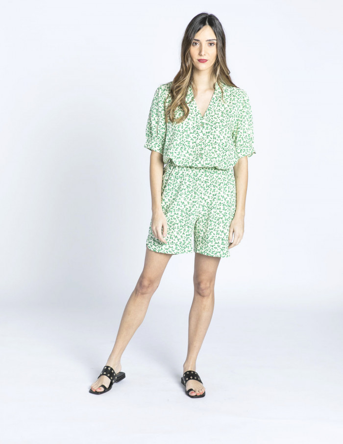 shorts flores verdes darlee desires sommes demode zaragoza