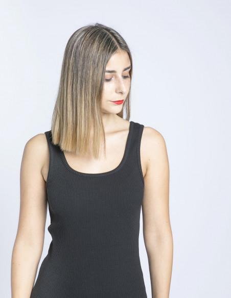 vestido negro nadja dr denim sommes demode zaragoza