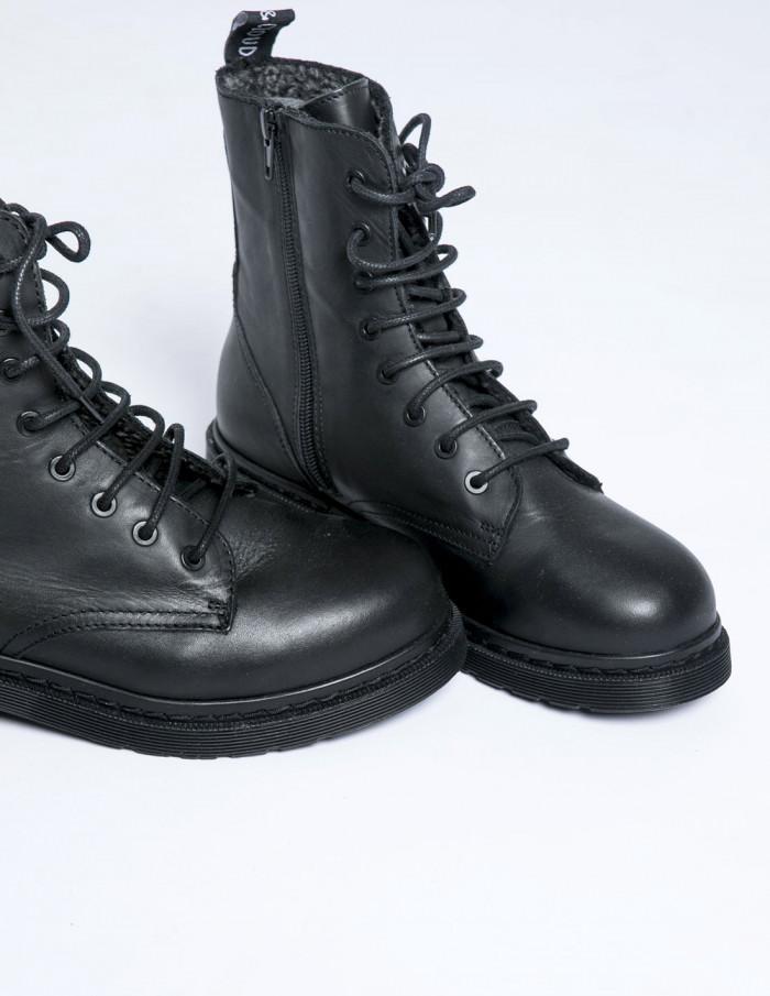 botas militares efany negro musse and cloud sommes demode zaragoza