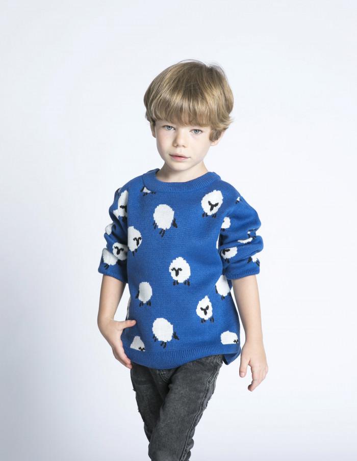 jersey mini azul ovejas compañia fantastica sommes demode zaragoza