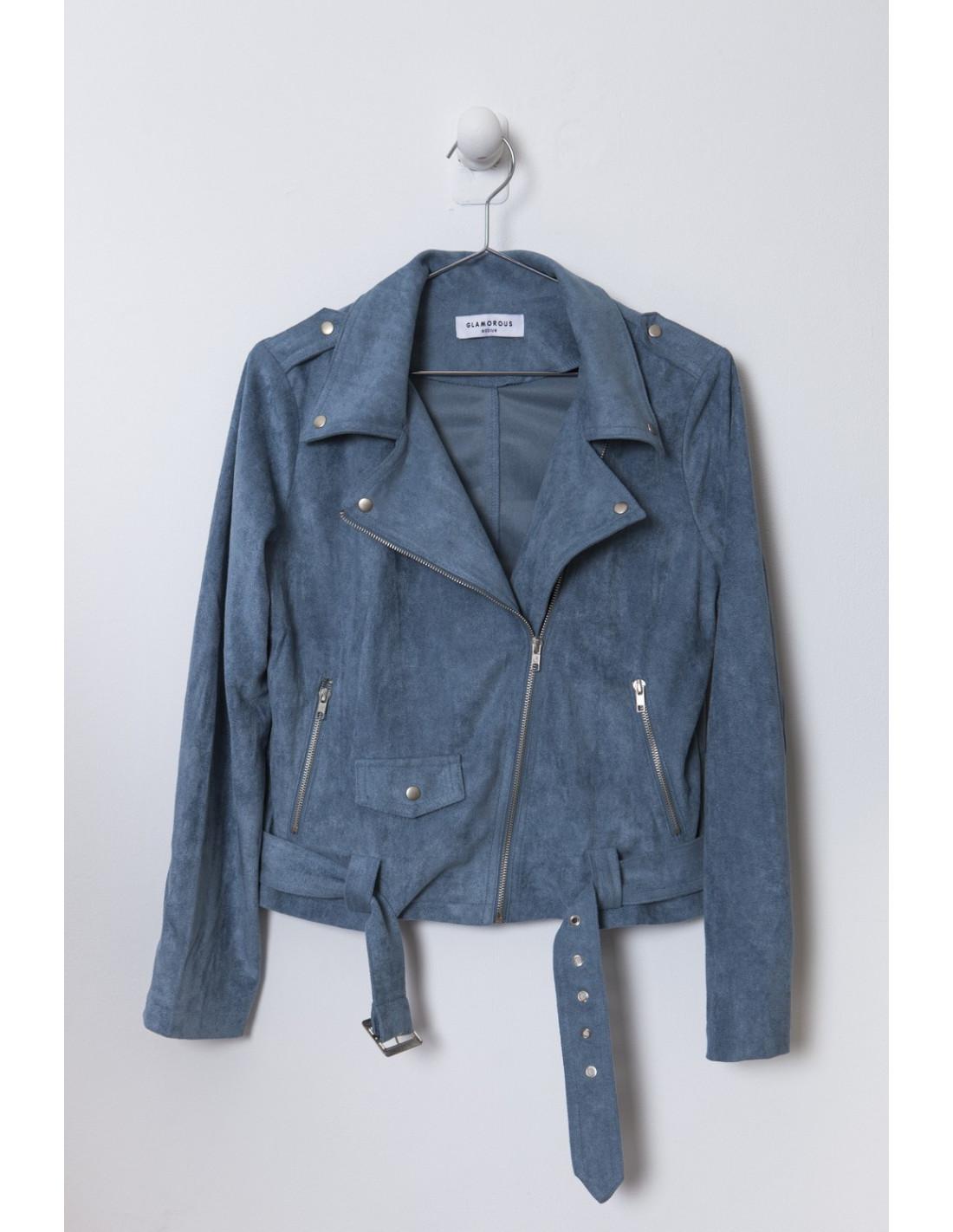 f0e3759556fdd Cazadora biker azul Glamorours