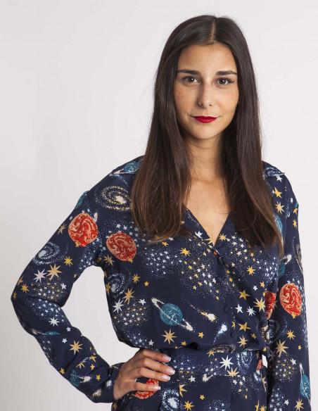 Camisa Constelaciones Neon Rose Sommes Demode Zaragoza