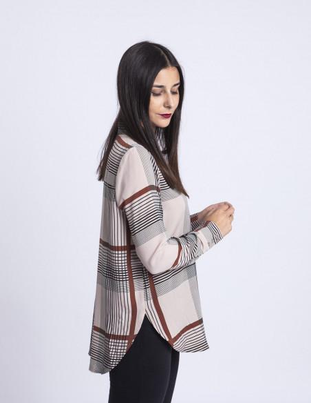 Camisa cuadrícula Nassa ICHI tienda Zaragoza Sommes Demode