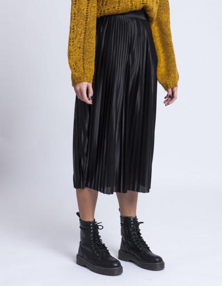 Falda plisada negra ICHI tienda Zaragoza Sommes Demode