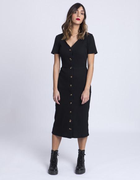 Vestido negro botones Glamorous tienda Zaragoza Sommes Demode