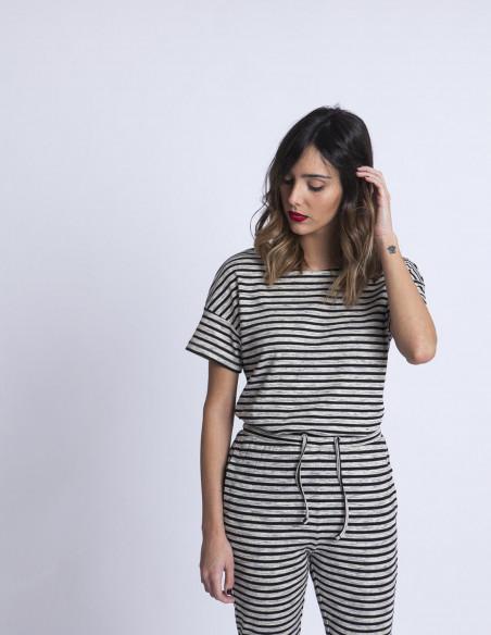 Camiseta Rayas Jia ICHI tienda Zaragoza Sommes Demode
