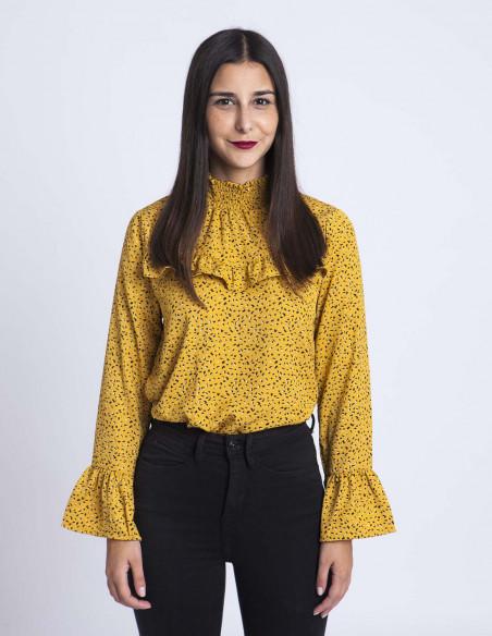 Blusa mostaza Tabita Desires tienda Zaragoza Sommes Demode