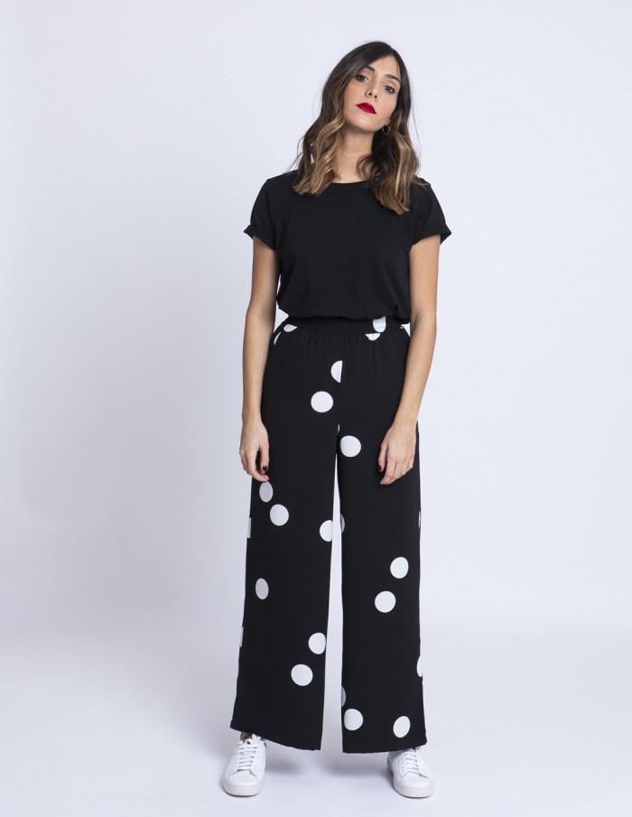 Pantalones Lunares Bobby ICHI tienda Zaragoza Sommes Demode