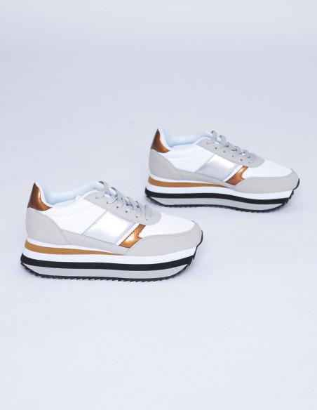 Zapatillas Blancas Plataforma Victoria Sommes Demode