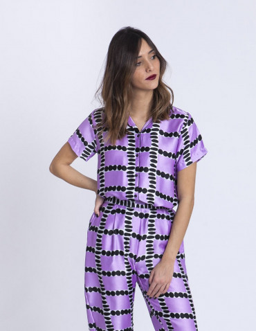 Camisa lila loop compañia fantastica Sommes Demode zaragoza