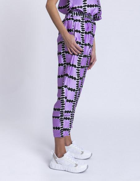 Pantalones lila loop compañia fantastica sommes demode zaragoza
