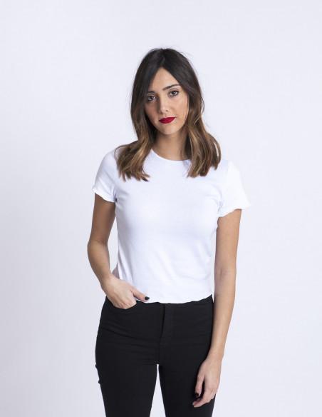 Camiseta Blanca Kelly Glamorous Sommes Demode Zaragoza
