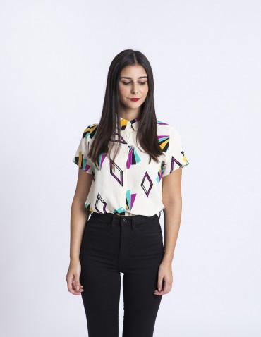 Camisa estampado geométrico Compañia Fantastica Sommes Demode Zaragoza