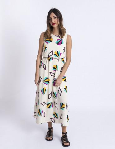 Vestido largo geometrico Compañia fantastica sommes demode zaragoza