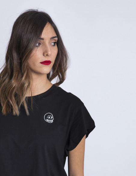 Camiseta Negra Skull Cheap Monday Sommes Demode Zaragoza