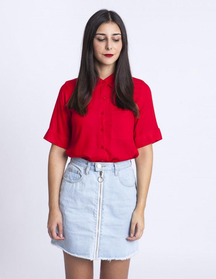 Camisa Roja Bolsillo Compañia Fantastica Sommes Demode Zaragoza