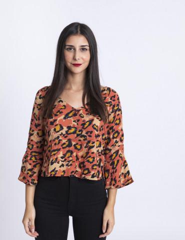 Blusa Leopardo Glamorous Sommes Demode Zaragoza