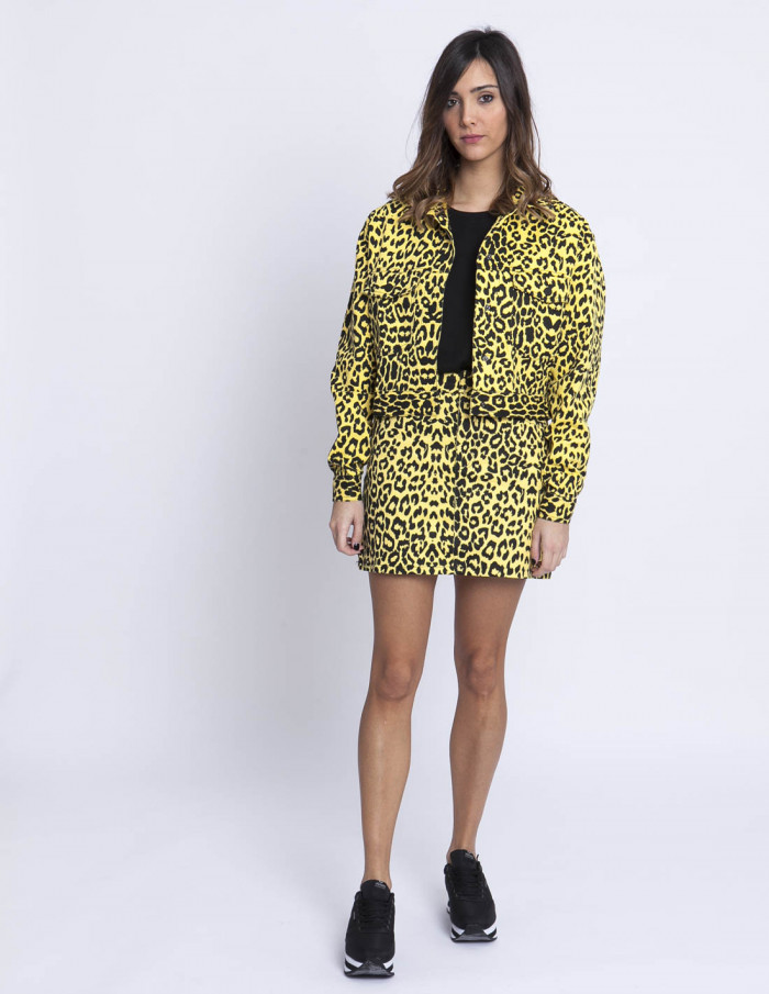 Cazadora Denim Animal Print Sommes Demode Zaragoza