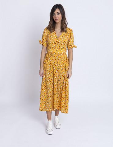 Vestido amarillo flores wild pony sommes demode zaragoza