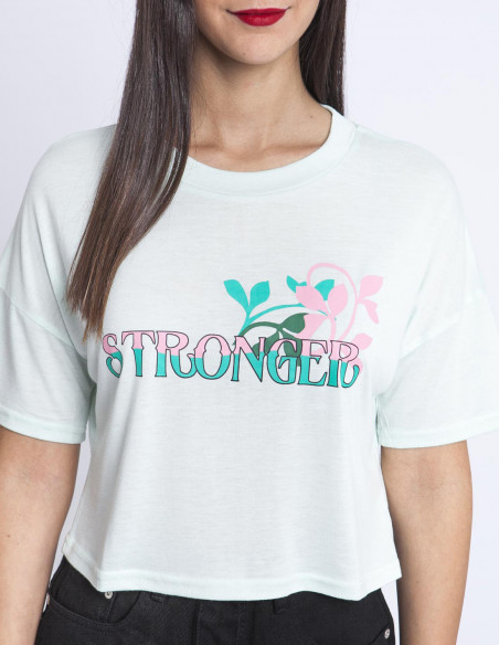 Camiseta Mint Stronger Glamorous Sommes Demode Zaragoza