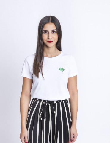Camiseta Blanca Palmera Desires Sommes Demode Zaragoza