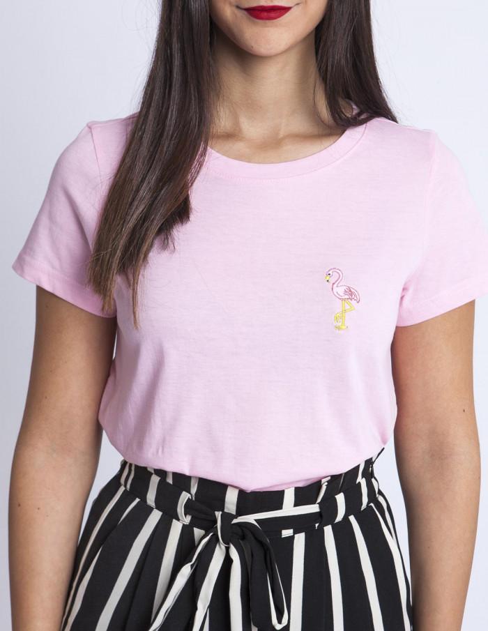 Camiseta Rosa Flamenco Desires Sommes Demode Zaragoza