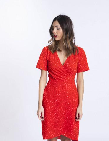 Vestido rojo bright ichi sommes demode zaragoza