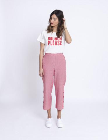 Pantalones cuadros vichy rojo compañia fantastica sommes demode zaragoza