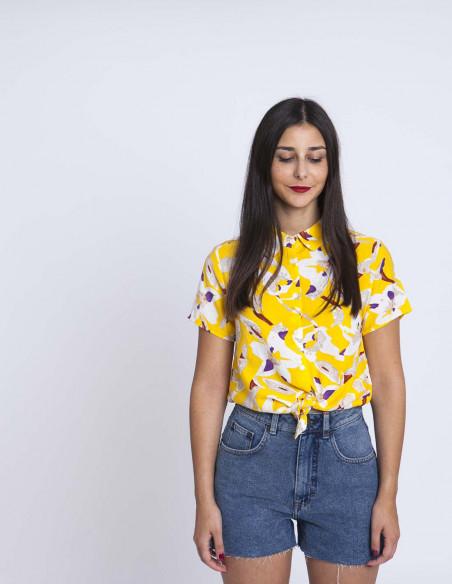 Camisa amarilla flores compañia fantastica sommes demode zaragoza