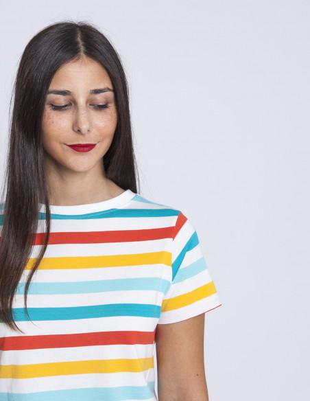 Camiseta rayas multicolor sugarhill brighton sommes demode zaragoza