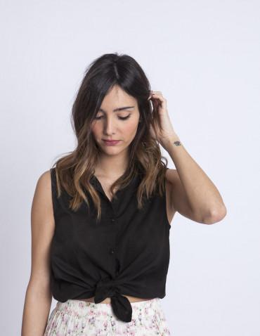 Camisa jacquard negra compañia fantastica sommes demode zaragoza