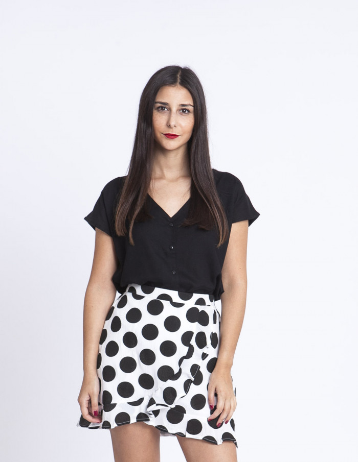 Falda lunares negros compañia fantastica sommes demode zaragoza
